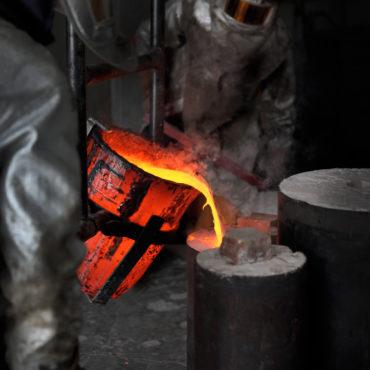 Coulée de bronze d