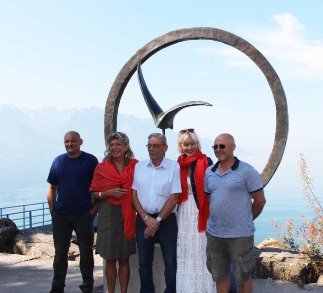 Installation définitive de «La Grande Envolée » à Montreux